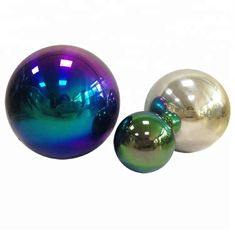 Rainbow Hollow Steel Ball 80MM 120MM 100MM For Education High Polished Surface